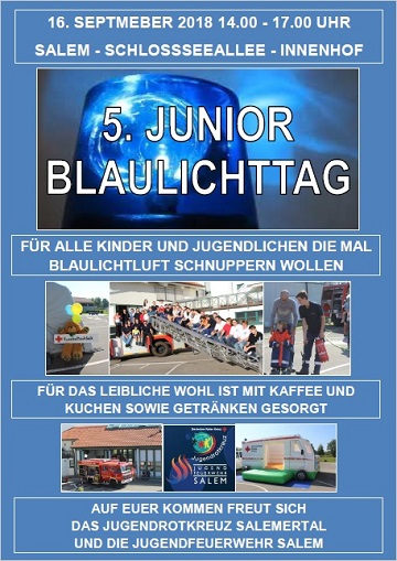 Junior Blaulichttag 2018